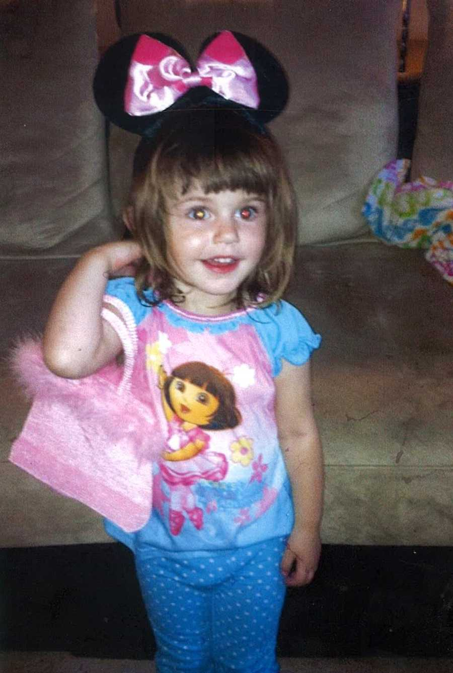 Chevelle is 4-years-old, and described as 2 feet 6 inches tall, 30 lbs with brown hair and brown eyes.