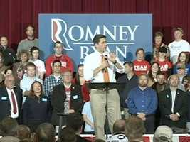 Paul Ryan spent Wednesday in Wisconsin. He spoke at a rally in Racine.