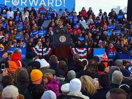President Barack Obama in Green Bay.