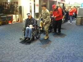 WISN 12 photographer Ben Lorber was able to follow along with Saturday's Stars & Stripes Honor Flight to Washington D.C.  Here are a few of the photos he emailed us during the trip. Hundreds more photos coming next week on WISN.com