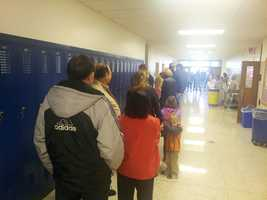 The line is long in Brookfield.