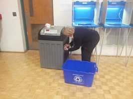 The ballot box was full in Brookfield...