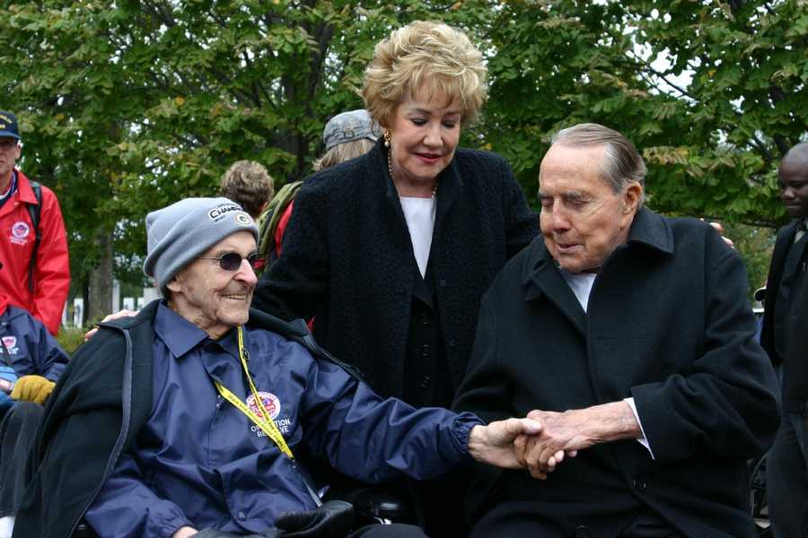 Former Senator Bob Dole and his wife Elizabeth were instrumental in getting the WWII Memorial completed.