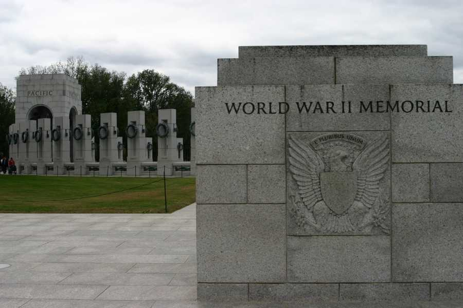 The first stop on this whirl-wind trip was to the WWII Memorial.