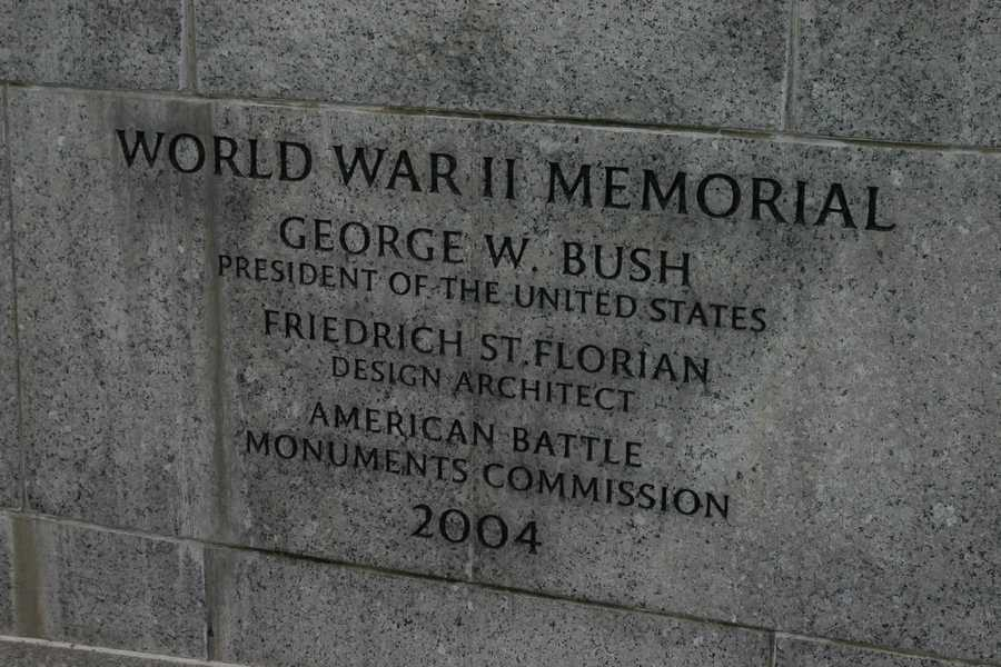 The memorial was finally dedicated by the American Battle Monuments Commission in 2004, nearly 60 years after the wars end.