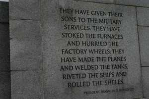 """They have given their sons to the military services.  They have stoked the furnaces and hurried the factory wheels.  They have made the planes and welded the tanks, riveted the ships and rolled the shells.""  President Franklin D. Roosevelt"