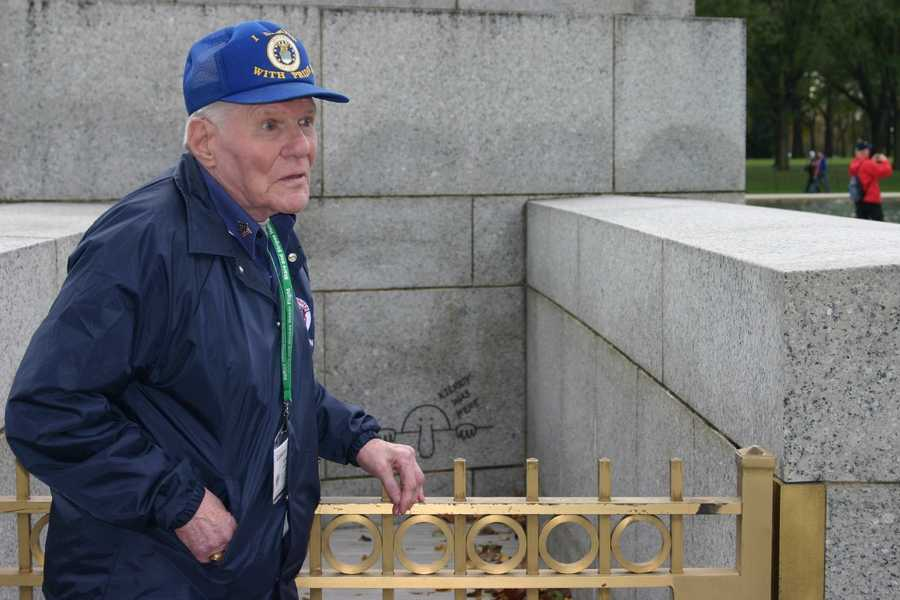 "This veteran found one of the two ""Kilroy"" engravings at the memorial."