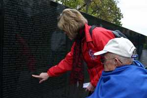 This veteran and his daughter found their relative's name on the wall.