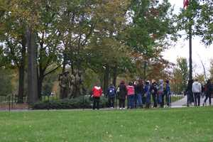 The Vietnam Veterans Memorial consists of two sculptures and the famous wall.