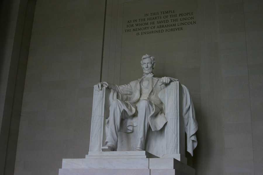 """In this temple as in the hearts of the people for whom he saved the Union the memory of Abraham Lincoln is enshrined forever""."