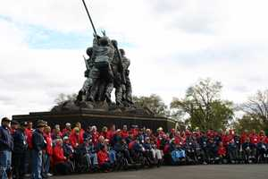 The U.S. Marine Corps War Memorial is more commonly called the Iwo Jima Memorial because of the design based on the same iconic image.