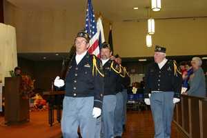 American Legion Post #416 presents the colors