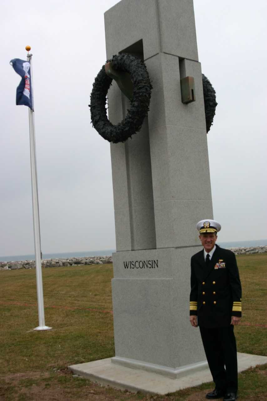 U.S. Navy Vice Admiral Dirk Debbink, a Wisconsin native was on hand for the ceremony.