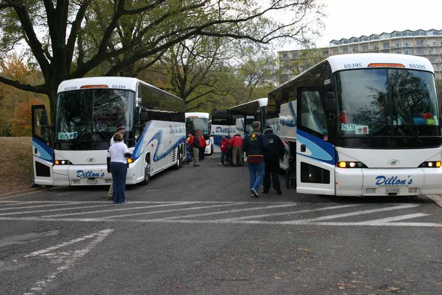 A bus tour of the Washington D.C. area was part of the itinerary for the Honor Flight participants.
