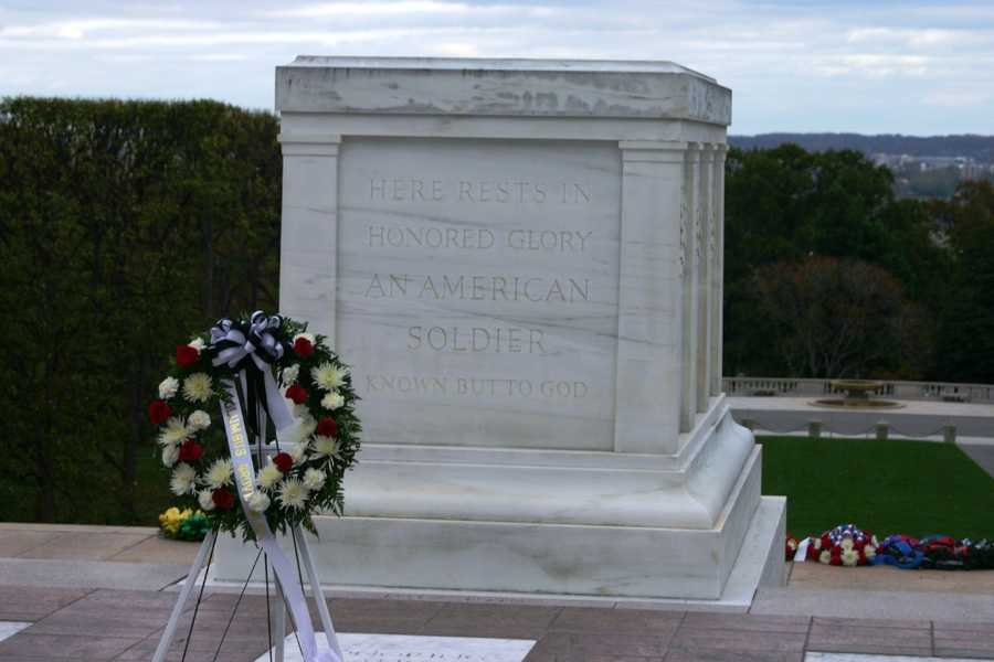 """Here rests in honored glory an American soldier known but to God"""