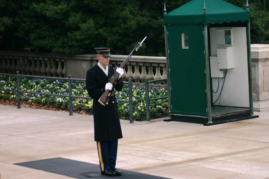 The Tomb of the Unknowns is guarded 24 hours a day, 365 days a year, and in any weather by Tomb Guard sentinels.