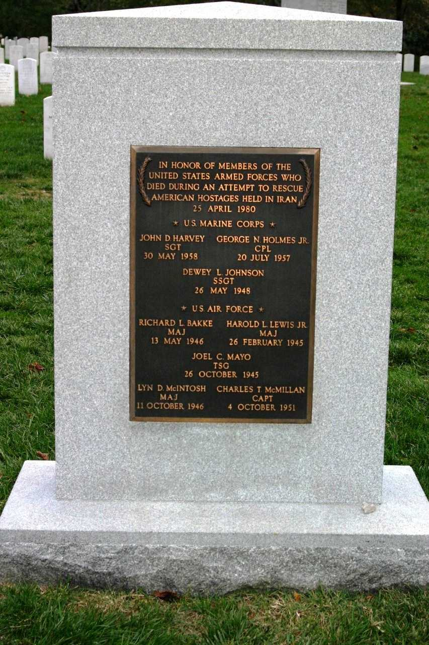 """In honor of members of the United States Armed Forces who died during an attempt to rescue American hostages held in Iran- 25 April 1980"""