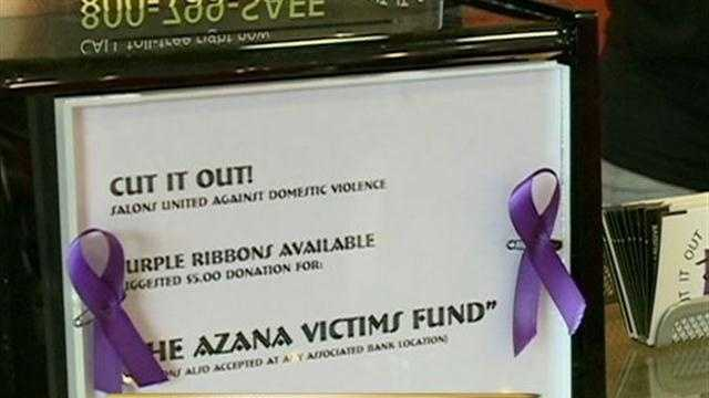 "Hundreds of salons across the country will hold a ""Cut It Out"" fundraiser Tuesday to benefit victims of domestic violence as well as the victims of the Azana Spa shooting in Brookfield."