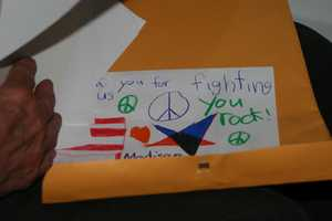 Some of the cards and letters were submitted by friends and family.