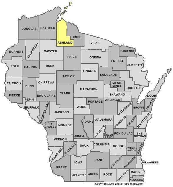Ashland County - 8 percent