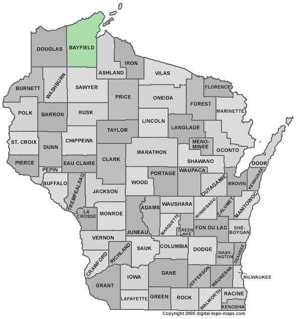 Bayfield County: 6 percent