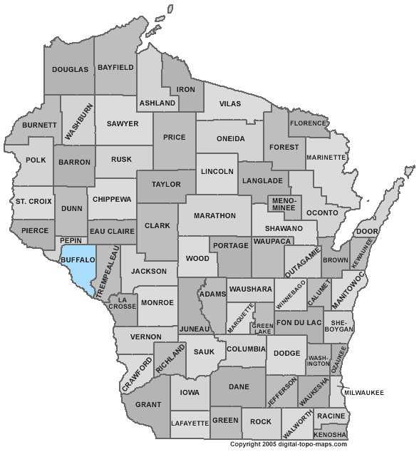 Buffalo County: 8 percent