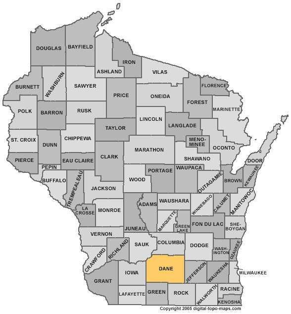 Dane County: 5 percent