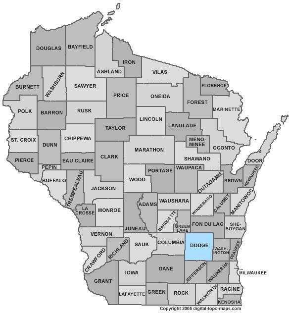 Dodge County: 8 percent