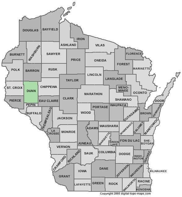 Dunn County: 7 percent