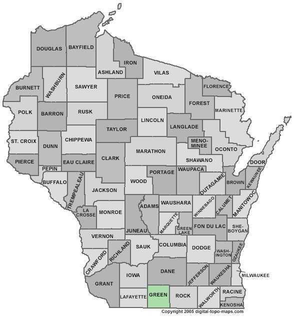 Green County: 7 percent