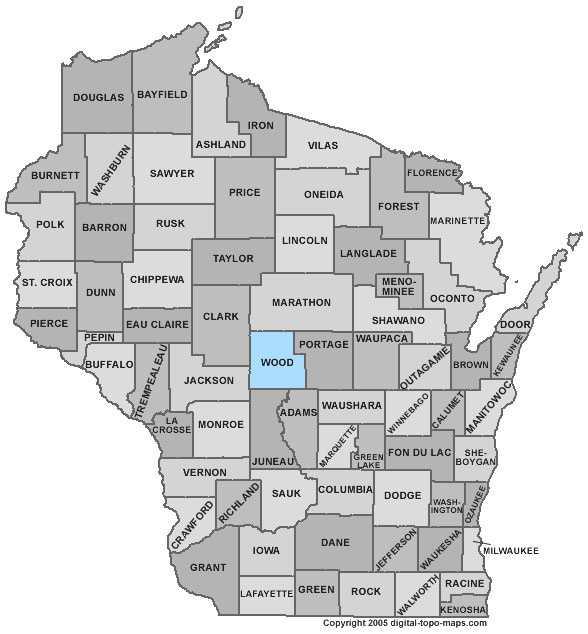 Wood County: 8 percent