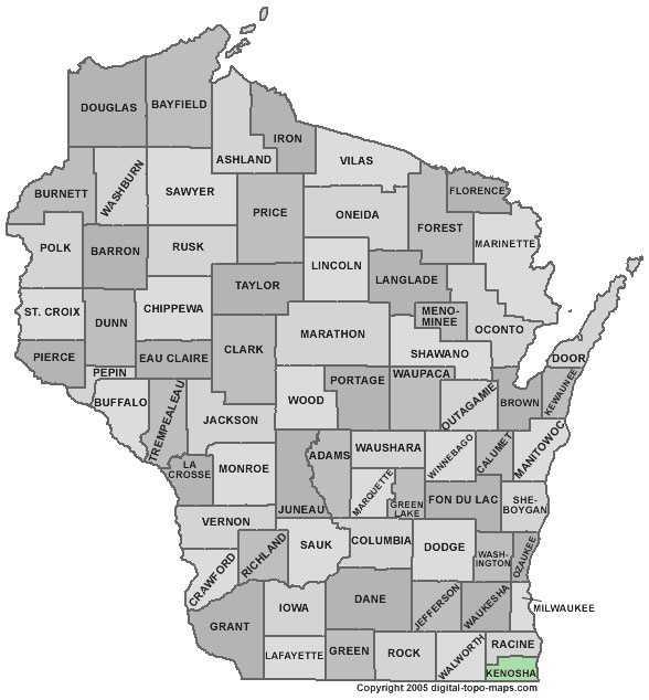Kenosha County: 7 percent
