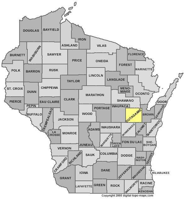 Outagamie County: 7 percent