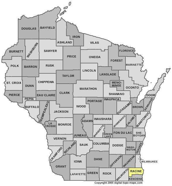 Racine County: 8 percent