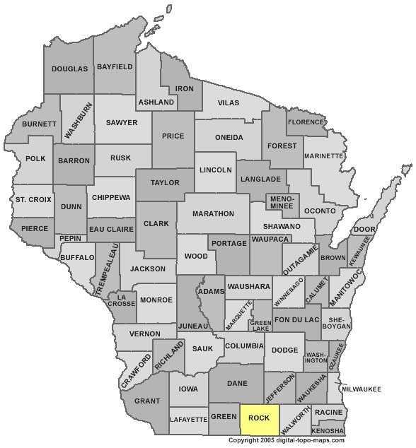 Rock County: 8 percent