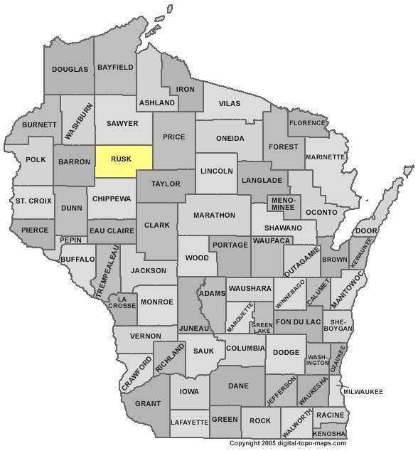 Rusk County: 9 percent