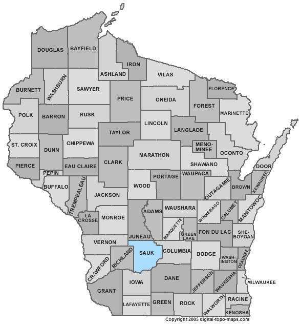 Sauk County: 7 percent
