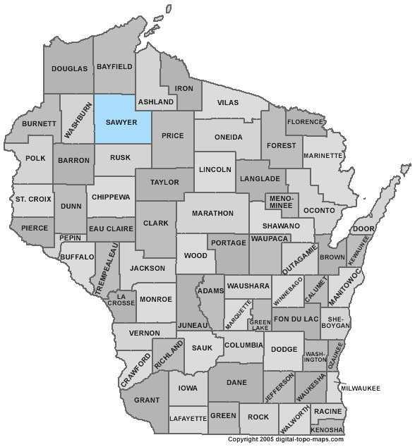 Sawyer County: 8 percent