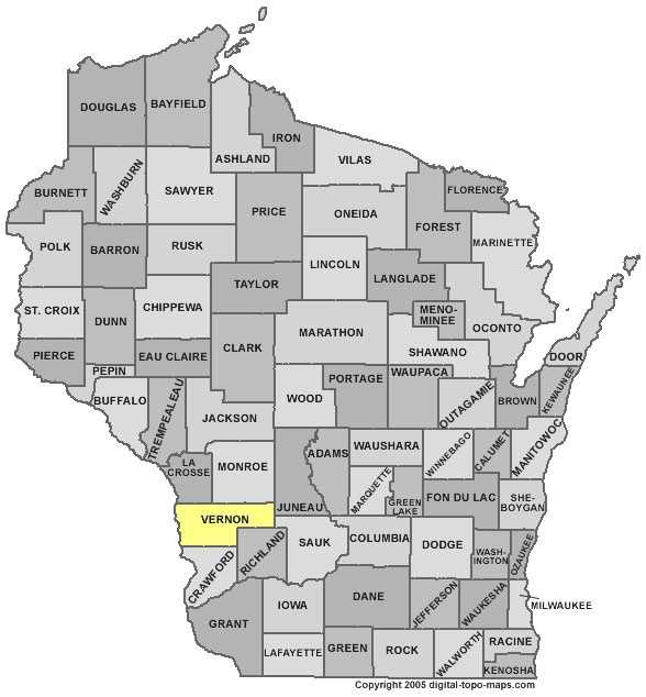 Vernon County: 8 percent