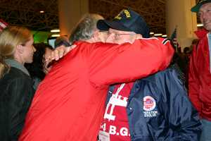 Emotional reunions are common in this crowd.