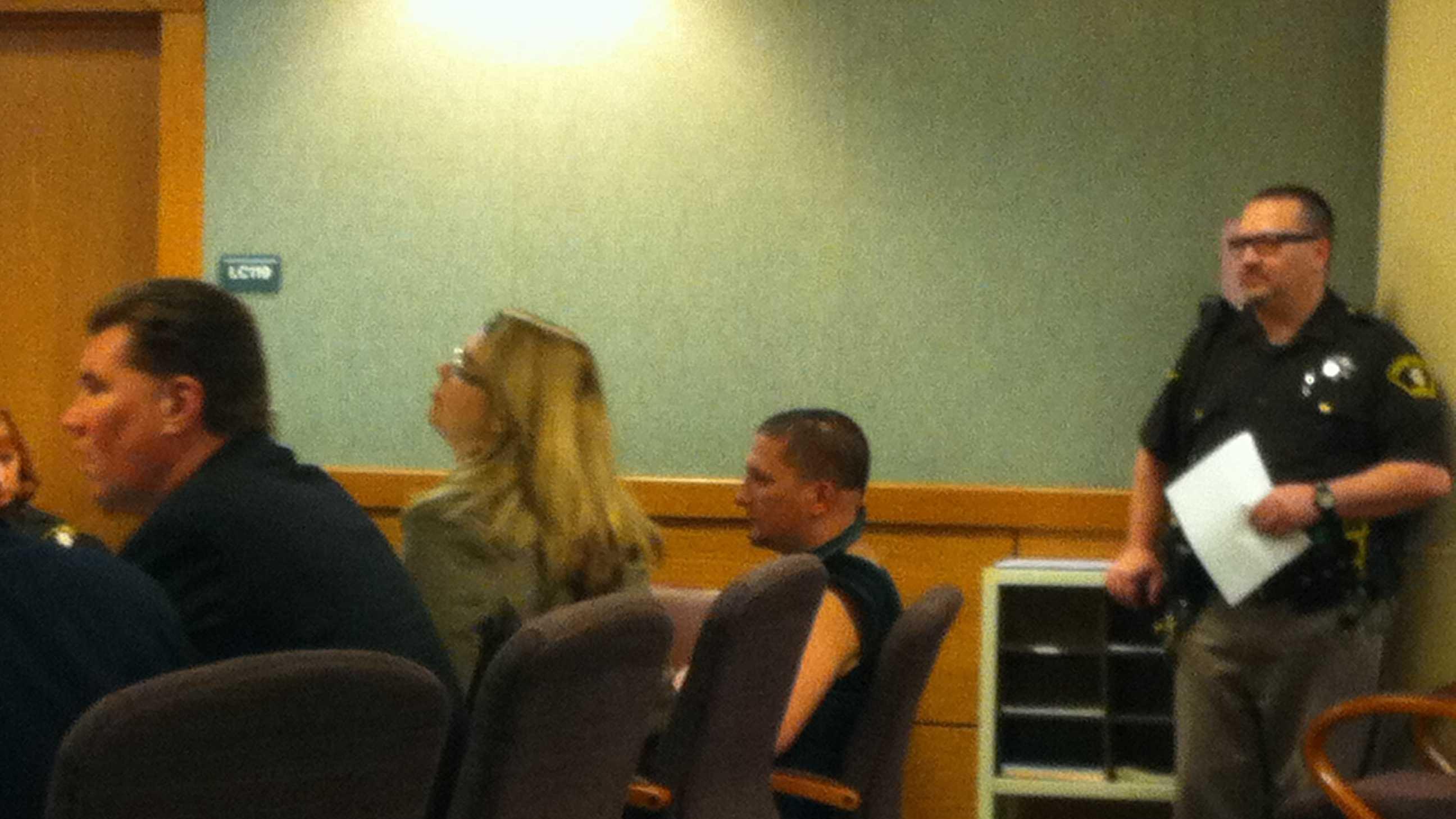 Richter in court