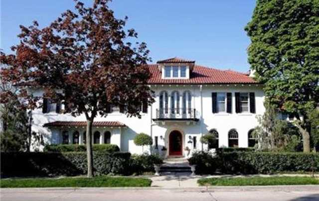 This house in the historic Water Tower District of Milwaukee, was built in 1914. It has six bedrooms and six baths. For more information on this property, click here.