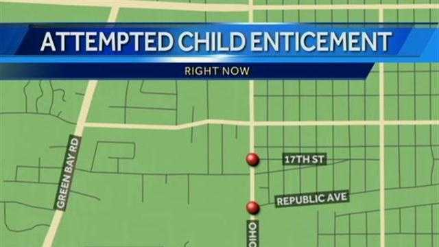 Racine police are warning residents of two recent child enticement attempts along Ohio Street.