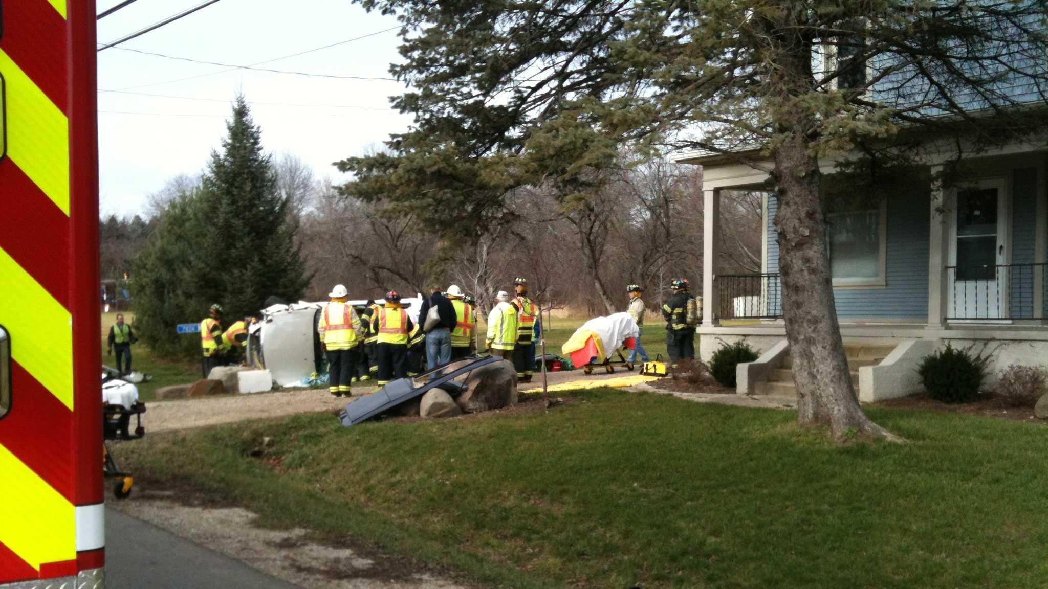 Cedarburg crash scene