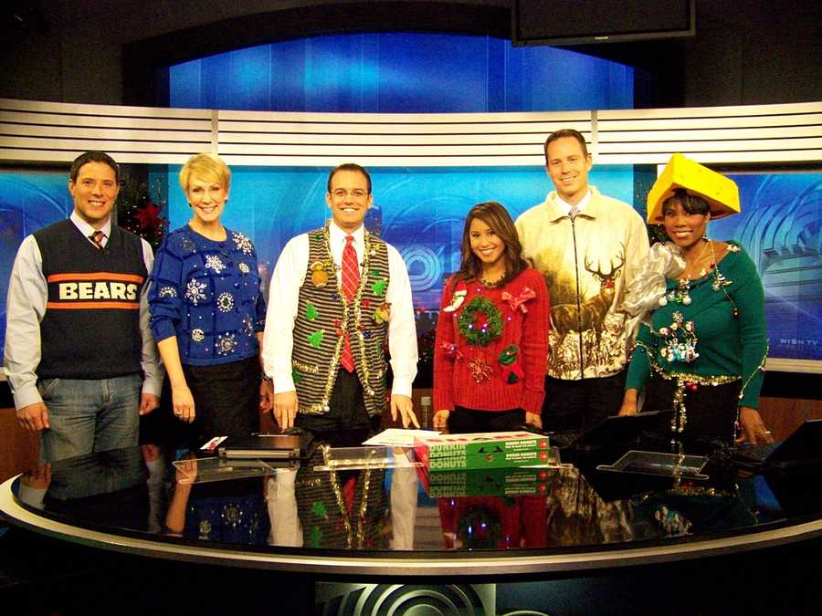 The WISN 12 News This Morning Team - showing their holiday spirit.