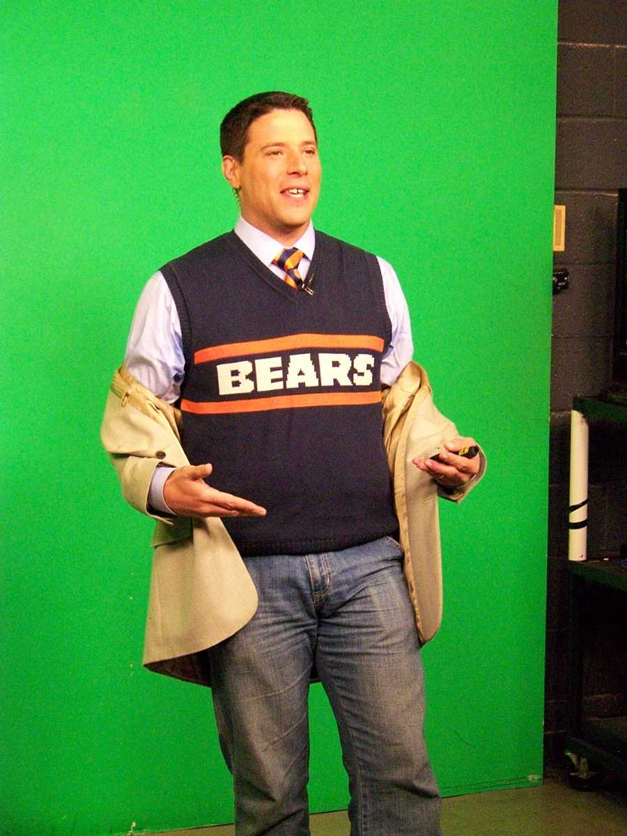 Traffic Watch 12's Matt Salemme may have the ugliest sweater to wear on Aaron Rodgers Day...