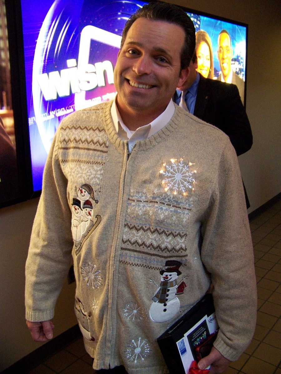 The third place winner in our holiday sweater competition: 6 & 10pm anchor Craig McKee.