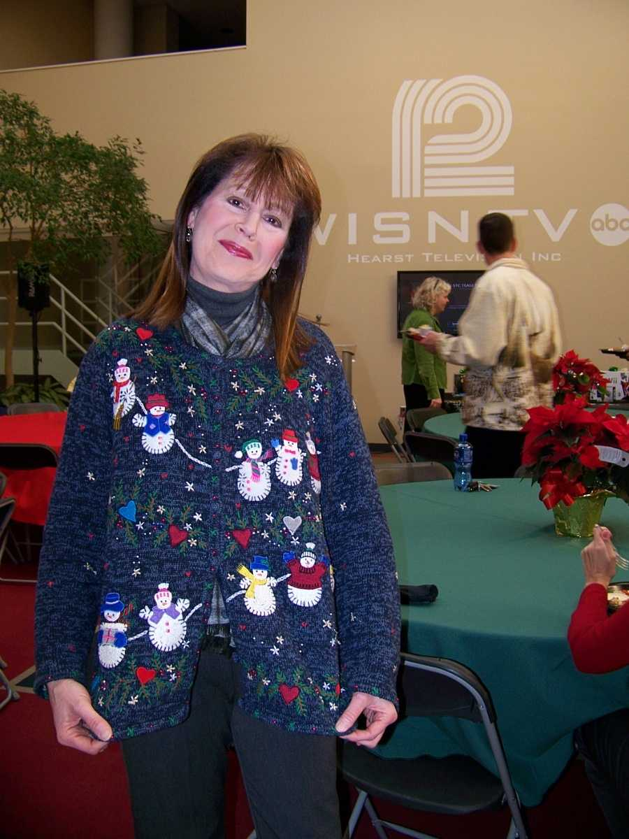 General Manager Jan Wade led the way with our holiday clothing theme.
