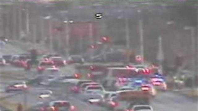 Highway 100 at Cleveland crash