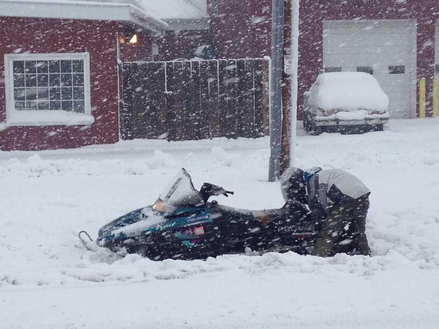 Even a snowmobiler got stuck in Ixonia.